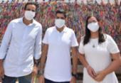 Ao lado de ACM Neto, Bruno Reis abre campanha na Igreja do Bonfim   Foto: Divulgação