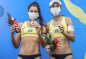 Ao ganhar medalha no vôlei de praia, Carol Solberg diz