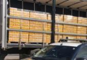 Quase 100 mil litros de produtos transportados irregularmente são apreendidos na Bahia | Foto: Divulgação | PRF