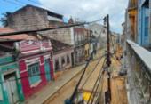 Criminosos vestidos de operários roubam fios em obra no Centro Histórico | Foto: Reprodução | Cidadão Repórter