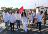 Olivia começa disputa eleitoral com caminhada ao Bonfim | Divulgação