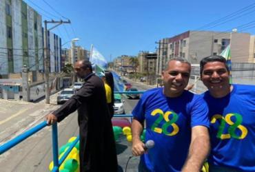 Cézar Leite inicia campanha com carreata na orla de Salvador | Reprodução | Facebook