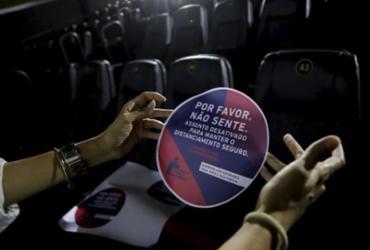 Cinemas vão usar adesivos com orientações aos clientes | Foto: Adilton Venegeroles | Ag. A TARDE - Adilton Venegeroles | Ag. A TARDE