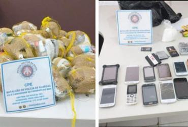 Homens tentam arremessar drogas e 17 celulares em presídio da Mata Escura | Divulgação | SSP