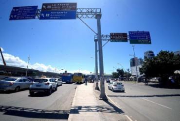 Trecho da avenida ACM é modificado para viabilizar obras do BRT   Divulgação   PMS