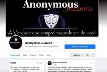 Justiça determina que Facebook retire página Anonymous Juazeiro | Reprodução | Facebook