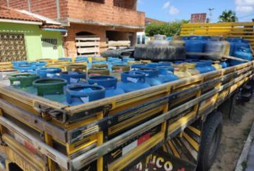 Operação apreende 244 botijões de gás em Camamu | Divulgação | Polícia Civil