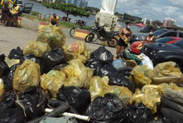 Mais de duas toneladas de lixo são recolhidas em praias de Ilhéus e Porto Seguro | Divulgação | CBMBA