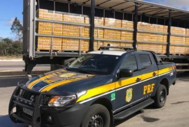 Quase 100 mil litros de produtos transportados irregularmente são apreendidos na Bahia | Divulgação | PRF