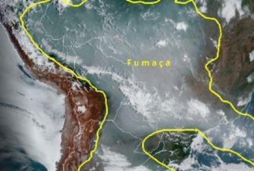 Fumaça das queimadas começa a atingir países vizinhos | Divulgação | Inpe