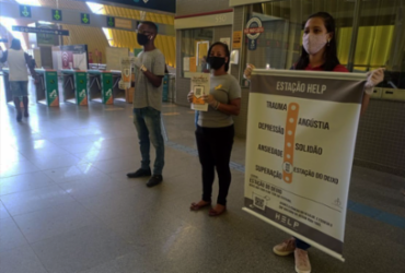 Projeto realiza ações de valorização à vida em estações de metrô de Salvador | Divulgação