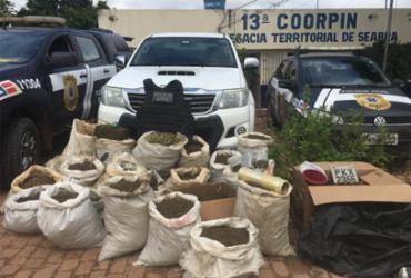 Homem é preso com 160kg de maconha em Seabra