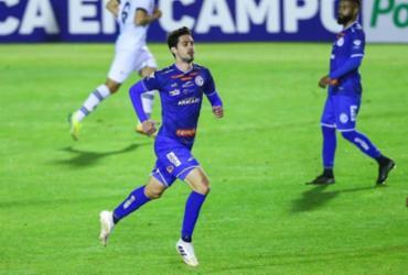 Filho de Vagner Mancini, Matheus Mancini celebra primeiro gol como profissional | Foto: Andujar Press