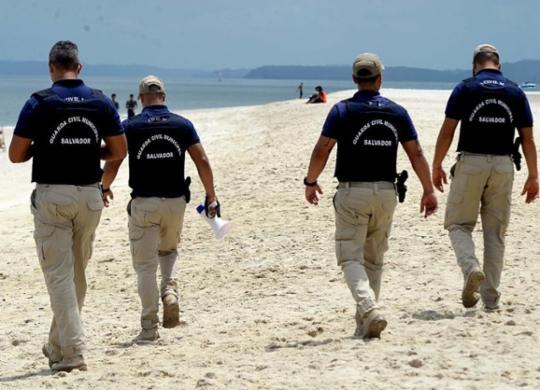 Guarda Municipal inicia fiscalização para monitorar reabertura das praias | Jefferson Peixoto | Secom