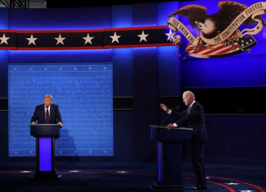 Primeiro debate entre Trump e Biden é marcado por troca de acusações | Win Macnamee | AFP