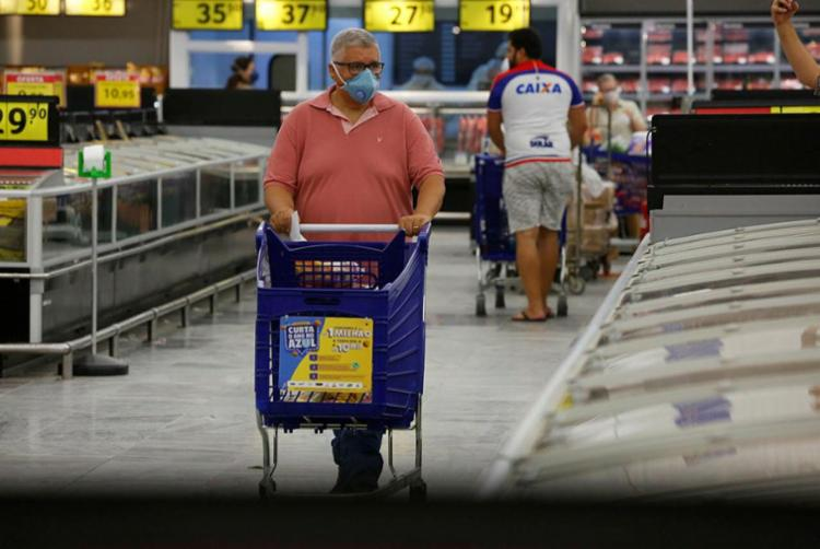 Estimativas para a inflação de 2021 mostraram uma leve redução, de 3,34% para 3,32% | Foto: Rafael Martins | Ag. A TARDE - Foto: Rafael Martins | Ag. A TARDE