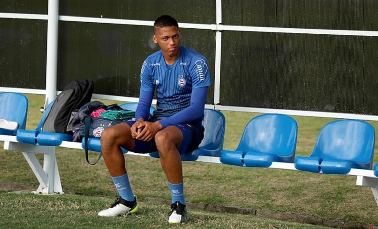 Jogador de 20 anos assinou com clube dos Emirados Árabes por três temporadas   Foto: Felipe Oliveira   ECBahia - Foto: Foto: Felipe Oliveira   ECBahia