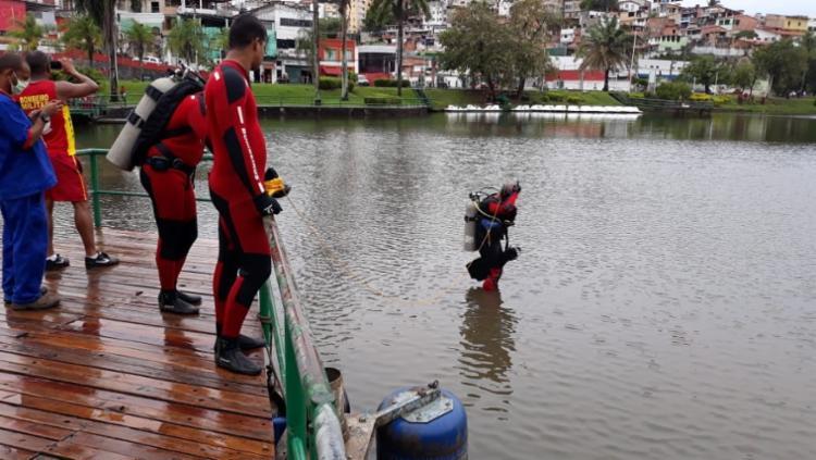Equipes de busca encontraram o corpo | Foto: Divulgação | CBMBA - Foto: Divulgação | CBMBA