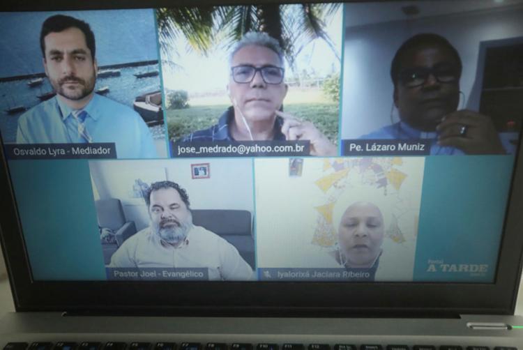 Quatro líderes abordaram aspectos voltados à religiosidade e ao momento atual   Foto: Felipe Iruatã   Ag. A TARDE - Foto: Felipe Iruatã   Ag. A TARDE