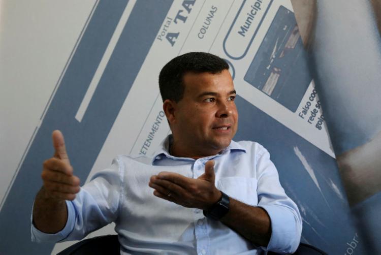 Pré-candidato a prefeito pelo PROS Celsinho Cotrim tem o pugilista Popó como candidato a vice | Foto: Felipe Iruatã | Ag. A TARDE - Foto: Felipe Iruatã | Ag. A TARDE