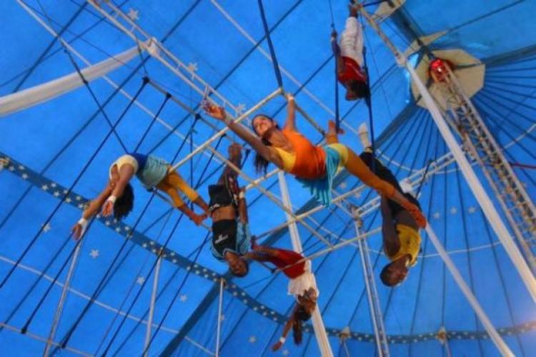 Serão disponibilizadas aulas de acrobacia em família   Foto: Divulgação   Circo Picolino - Foto: Divulgação   Circo Picolino