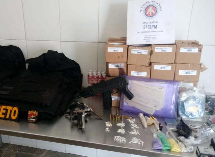 Material foi encontrado com suspeitos   Foto: Divulgação   SSP - Foto: Divulgação   SSP