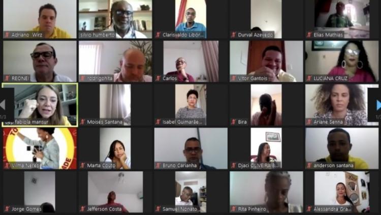 PSB oficializou aliança com PT em Salvador durante convenção virtual - Foto: Reprodução