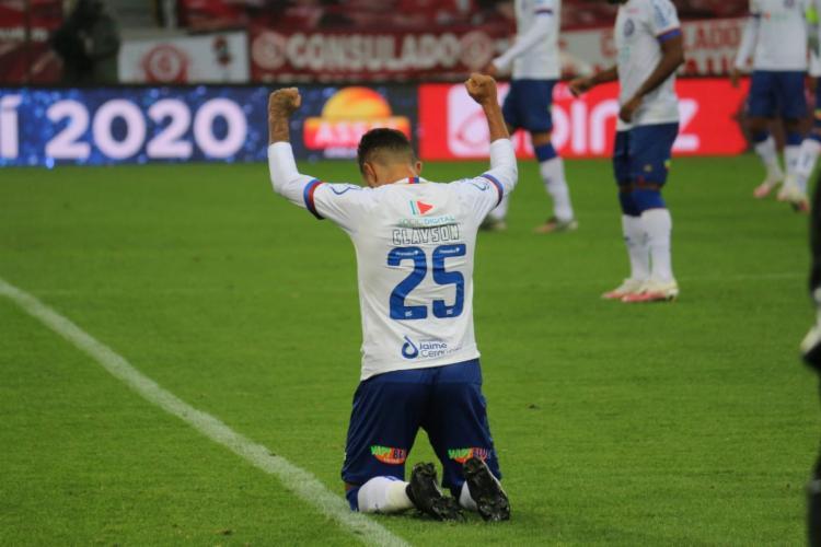 Elogiado pelo treinador, Clayson (foto) marcou gol de empate | Foto: Bruno Queiroz | E.C.Bahia - Foto: Bruno Queiroz | E.C.Bahia