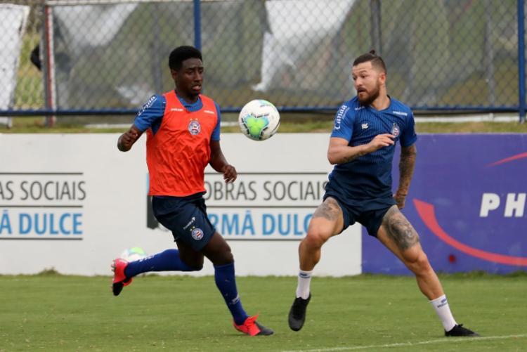 No campo 2, os reservas fizeram um jogo-treino com a equipe sub-20 | Foto: Felipe Oliveira | EC Bahia - Foto: Felipe Oliveira | EC Bahia