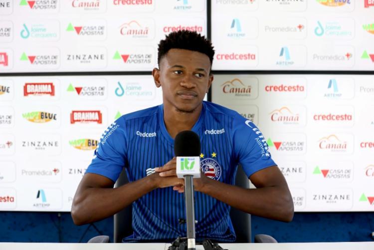 O meia revelou motivação após receber elogios do treinador Mano Menezes   Foto: Felipe Oliveira   EC Bahia - Foto: Felipe Oliveira   EC Bahia