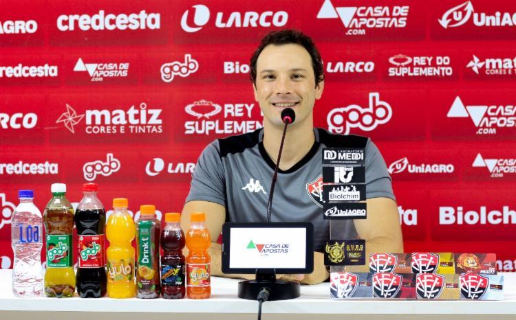 Treinador destacou desempenho dos jogadores   Foto: Letícia Martins   E.C.Vitória - Foto: Letícia Martins   E.C.Vitória