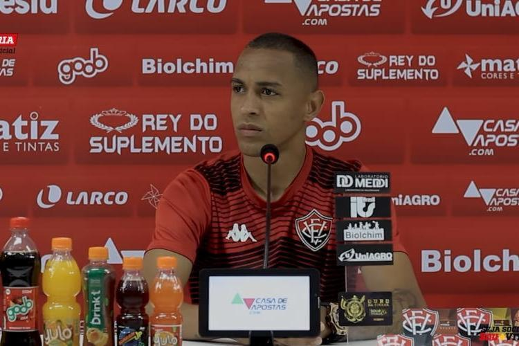 Leandro ainda falou sobre sua adaptação e a relação com os jogadores do elenco   Foto: Reprodução   TV Vitória - Foto: Reprodução   TV Vitória