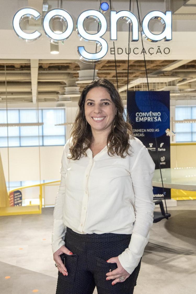 Camila Veiga, diretora de Impacto Social da Cogna   Foto: Divulgação