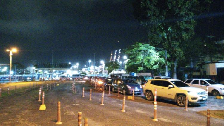 Não há filas para pedestres | Foto: Cidadão Repórter - Foto: Cidadão Repórter