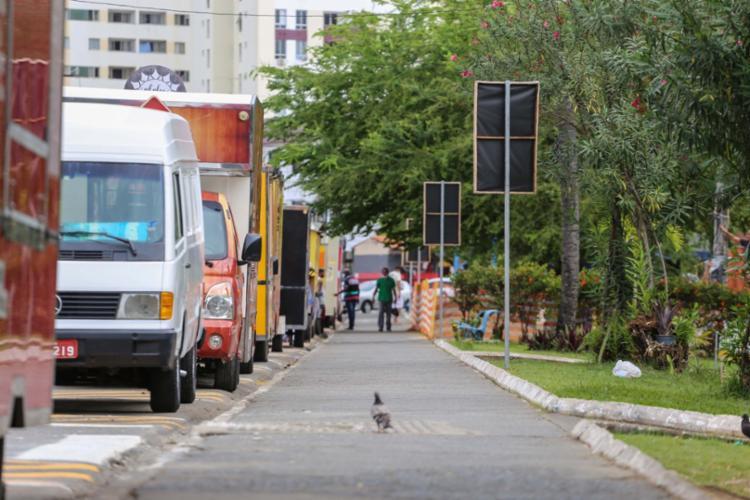 Ao todo, 20 veículos permanecem no local | Foto: Bruno Concha | Secom - Foto: Bruno Concha | Secom