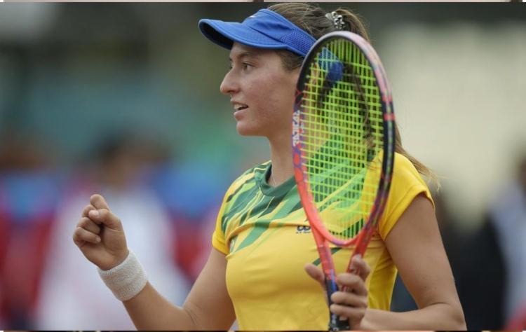 Há 38 anos uma brasileira não chegava tão longe em um Grand Slam   Foto: Divulgação - Foto: Divulgação