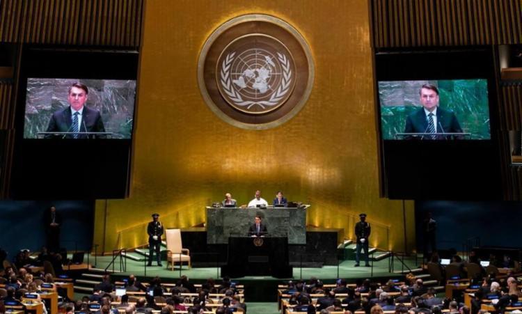 A fala de Bolsonaro na ONU está prevista para começar às 9 horas da próxima terça-feira, dia 21   Foto: Johannes Elisele   AFP - Foto: Johannes Elisele   AFP