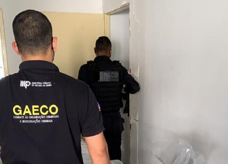 Agentes durante a Operação Inventário | Foto: Divulgação | MP-BA - Foto: Divulgação | MP-BA