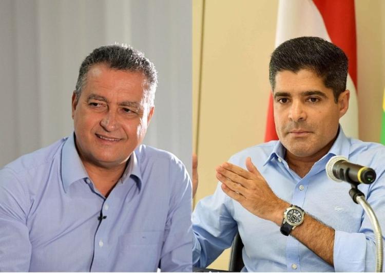 Rui Costa e ACM Neto prometem rigor contra candidatos que desrespeitarem os protocolos sanitários - Foto: Divulgação
