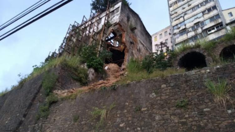 Balanço inclui casarão que interditou a Ladeira da Montanha, no última dia 18 | Foto: Divulgação | Prefeitura de Salvador - Foto: Divulgação | Prefeitura de Salvador