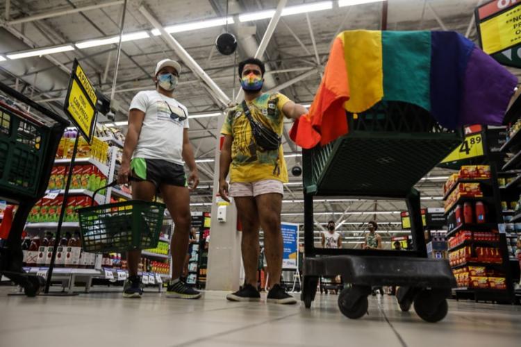 Ato pacífico começou por volta das 15h desta quinta-feira, 24 | Foto: Felipe Iruatã | Ag. A TARDE - Foto: Felipe Iruatã | Ag. A TARDE