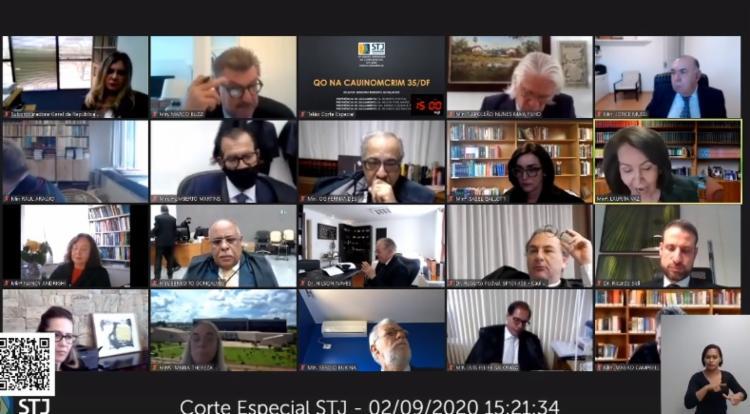 Corte Especial do STJ se reuniu nesta quarta-feira para julgar decisão monocrática / Foto: Reprodução   YouTube - Foto: Reprodução   YouTube