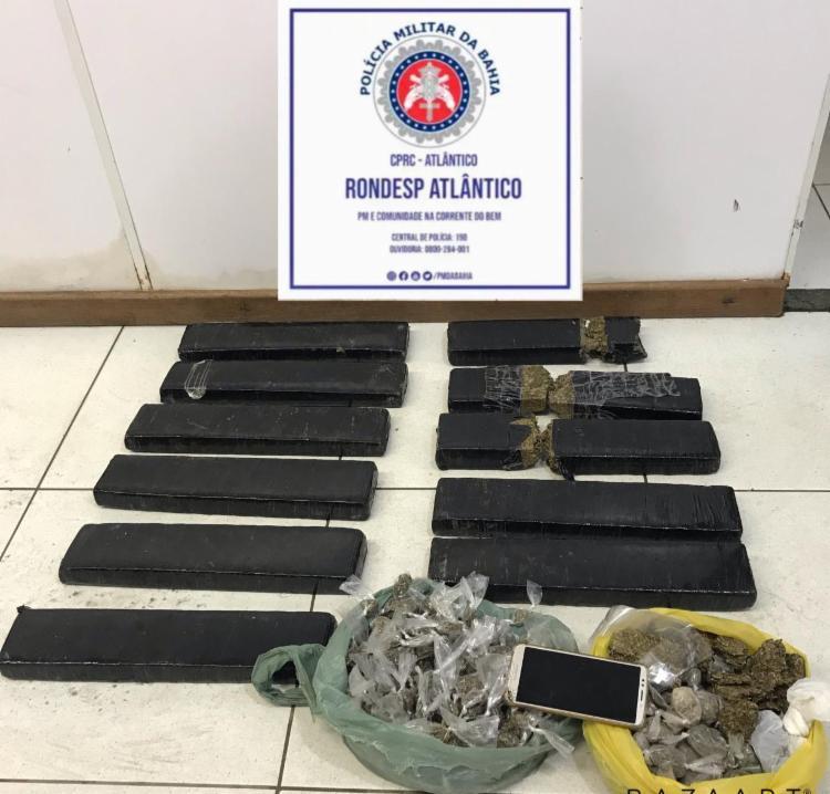 Drogas foram encontradas durante rondas no bairro de São Cristóvão   Foto: Divulgação   SSP - Foto: Divulgação   SSP