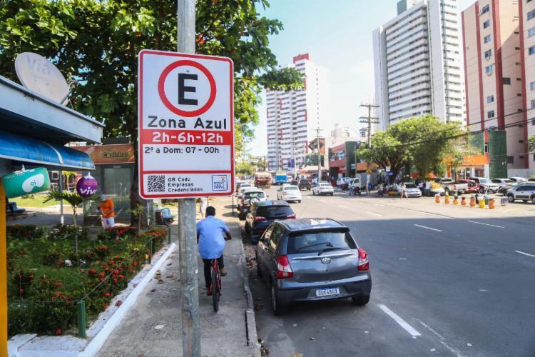 Vagas foram regulamentadas no bairro do Imbuí | Foto: Divulgação | Transalvador - Foto: Divulgação | Transalvador