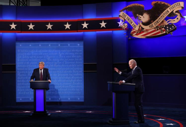 Início do 1º debate entre os candidatos foi marcado por troca de acusações   Foto: Win Macnamee   AFP - Foto: Win Macnamee   AFP