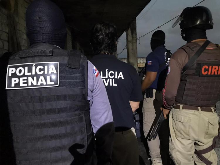 Ação ocorreu em celas do prédio principal do Complexo Penitenciário da Mata Escura   Foto: Rafael Rodrigues   SSP-BA - Foto: Rafael Rodrigues   SSP-BA