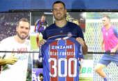 Prestes a completar 300 jogos pelo Bahia, Lucas Fonseca ressalta pensamento de evolução do clube | Foto: Felipe Oliveira | E.C.Bahia