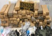 Quatro são presos com arma e 100kg de maconha | Foto: Divulgação | SSP