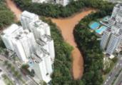 Prefeitura realiza vistoria na Lagoa Alphaville   Divulgação