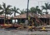 Chuva e vendaval causam estragos em Porto Seguro | Reprodução | Blog do Anderson